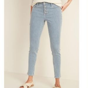 Old Navy Button Closure Super Skinny Jeans Basic